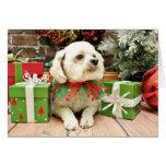 Christmas - Bichon Frise - Woody Greeting Card