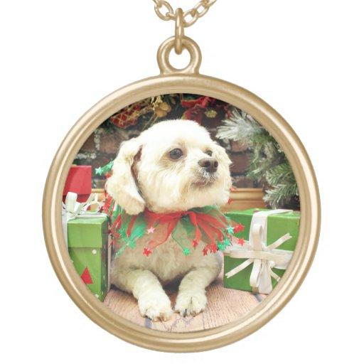 Christmas - Bichon Frise - Woody Pendants