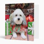 Christmas - Bichon Frise X - Macy Binders