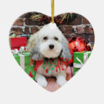 Christmas - Bichon Frise X - Macy Christmas Tree Ornament