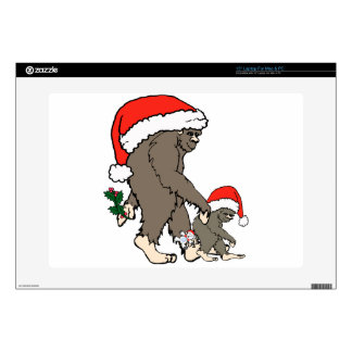 Christmas Bigfoot Family Skin For Laptop