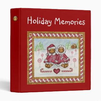 Christmas Binder Gingerbread Boy Girl Holiday
