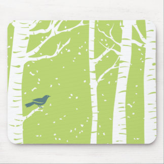 Christmas Birch Trees Mouse Pad