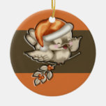 Christmas Bird (1 sided) Double-Sided Ceramic Round Christmas Ornament
