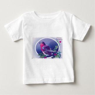 christmas bird blue baby T-Shirt