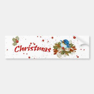 CHRISTMAS BIRD BUMPER STICKER