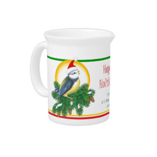 Christmas Bird Drink Pitchers