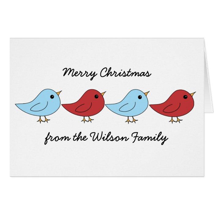 Christmas Bird Family Card