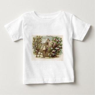 Christmas Bird Holly Snow Ladder Harvest Tee Shirt