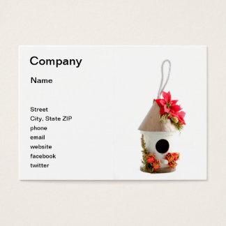 Christmas Bird House Business Card