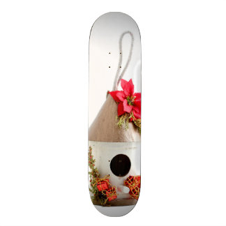 Christmas Bird House Skateboard