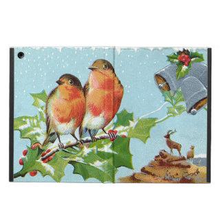 Christmas Bird Songbird Holly Snow Reindeer Bell iPad Air Cover