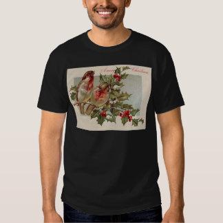 Christmas Bird Songbird Holly Snow Shirt
