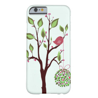 Christmas bird with mistletoe iPhone 6 case