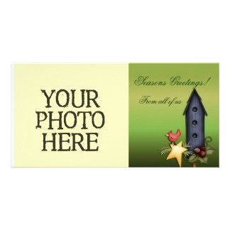 Christmas Birdhouse Picture Card