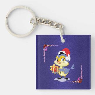 Christmas Birdie Key Chain