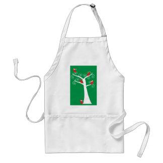 Christmas Birds in a Tree Apron
