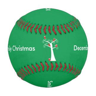 Christmas Birds in a Tree Baseball