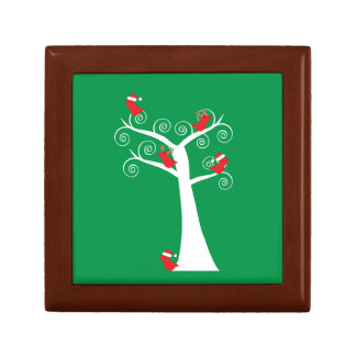 Christmas Birds in a Tree giftbox Keepsake Boxes