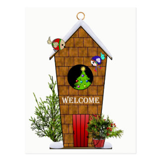 Christmas Birds' Open House Invitation to Fly In Postcard
