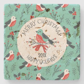 Christmas Birds Pattern Customizable Template