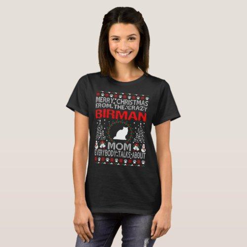 Christmas Birman Cat Mom Ugly Sweater Tshirt After Christmas Sales 5664