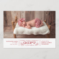 Christmas Birth Announcement Holiday Card