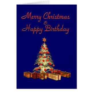 Christmas Birthday Card