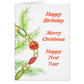 christmas birthday card