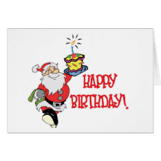 Christmas Birthday Card at Zazzle