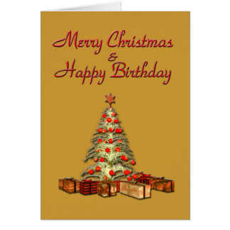 Christmas Birthday Gold Card