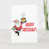 Christmas Birthday Greeting Card