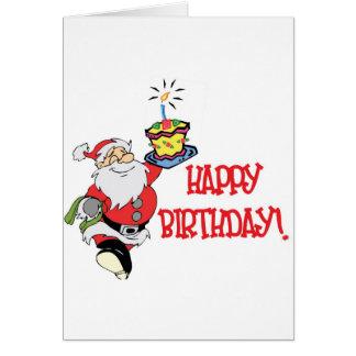 Christmas Birthday Greeting Card