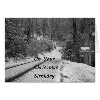 CHRISTMAS BIRTHDAY IN WONDERLAND WISHES CARD