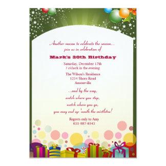 Christmas Birthday Party Invitation