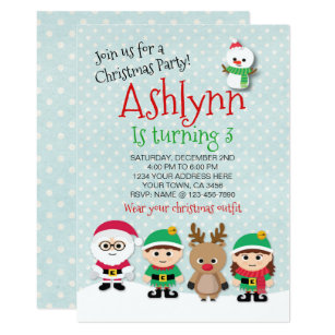 christmas birthday party invite