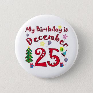 Christmas Birthday Pinback Button