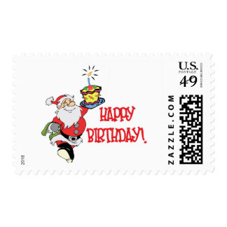 Christmas Birthday Postage Stamp