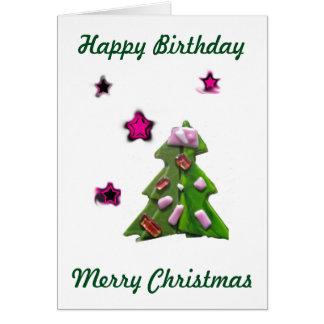Christmas Birthday Seeing Stars Dec. 25 Card