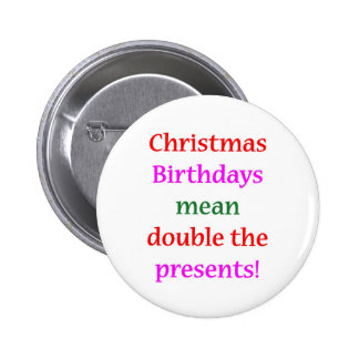 Christmas Birthdays Button