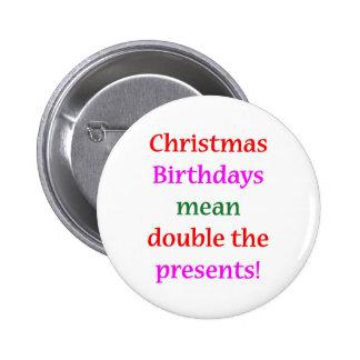 Christmas Birthdays Buttons