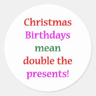 Christmas Birthdays Stickers