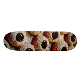 christmas biscuits skate board deck