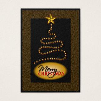 Christmas Black and Gold Christmas Tree Gift Tags