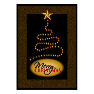 Christmas Black and Gold Gift Tags Large Business Card