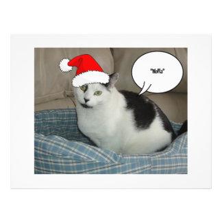 Christmas Black and White Kitten Flyer