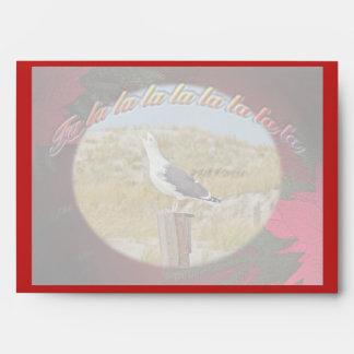 Christmas Black Backed Gull Christmas Caroling Envelope