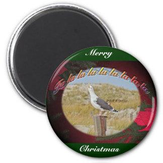 Christmas Black Backed Gull Christmas Caroling Magnet