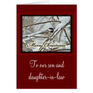 Christmas Black Capped Chickadee in Snow Card