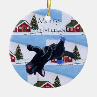 Christmas Black Labrador Ornament